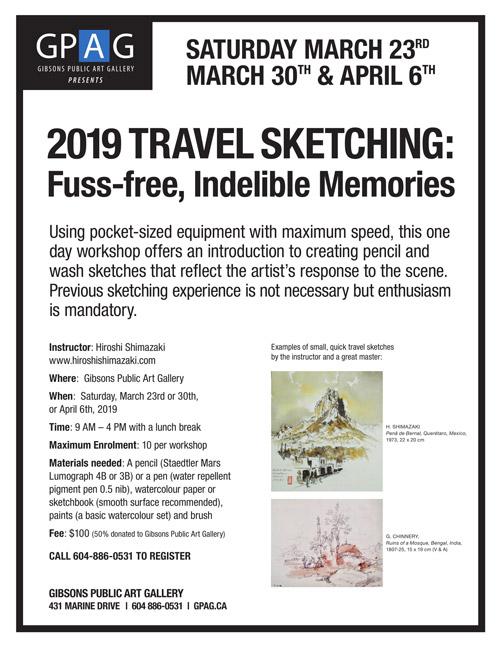 2019 Travel Sketching: Fuss-free, Indelible Memories