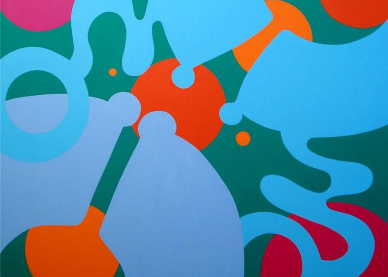 Sept 9 – Oct 3   Philippe Sokazo BEYOND THE VISIBLE (painting) and Ellen Bang LINES AT PLAY (painting)